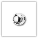 Perles rondes CCB 14 mm Argenté x 10