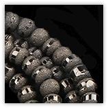 Perles rondes 4mm cristal givrées métal - 257