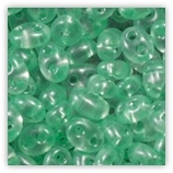 Twin beads 2,5x5 mm 08158 Light Green Pearl x20g
