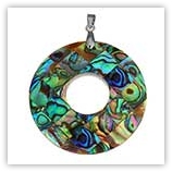 Pendentif donut Abalone 40mm