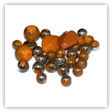 Assortiments de perles Acryliques - Orange