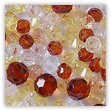 Assortiments de perles Acryliques transparentes - Brun
