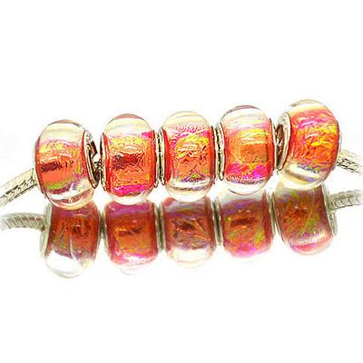 Perles acryliques façon murano pour bracelet - 235