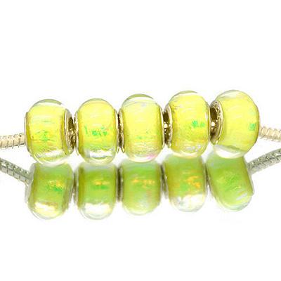 Perles acryliques façon murano pour bracelet - 239