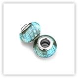 Perles acryliques pour bracelet - Aquamarine