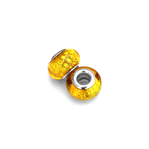 Perles acryliques pour bracelet - Jaune