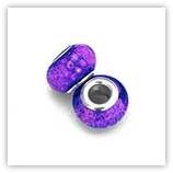 Perles acryliques pour bracelet - Dark Violet