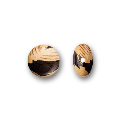 Smarties acryliques 17 mm  design Bois x2
