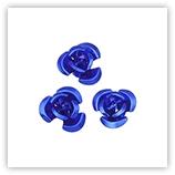 Perles fleurs aluminium 12 mm - Sapphire