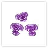 Perles fleurs aluminium 12 mm - Violet