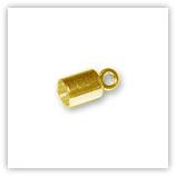 Embouts tube&anneau ronds argentés pour 6 à 6.5mm plaqué Or