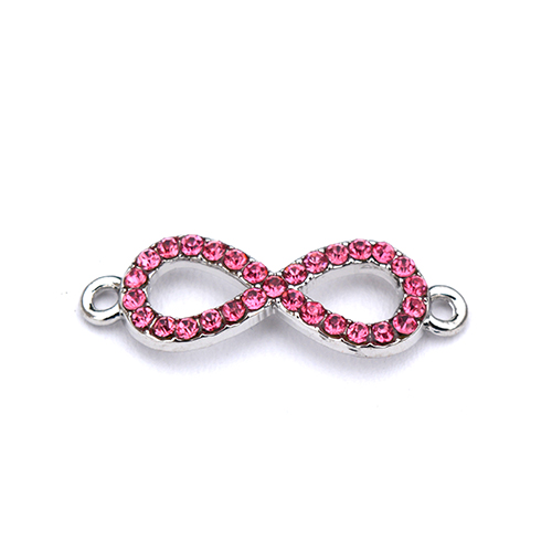 Intercalaire strass infini - Rose