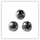 Hématite - Rondes multifacettes 10 mm
