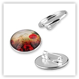 Broche porte cabochon 25 mm