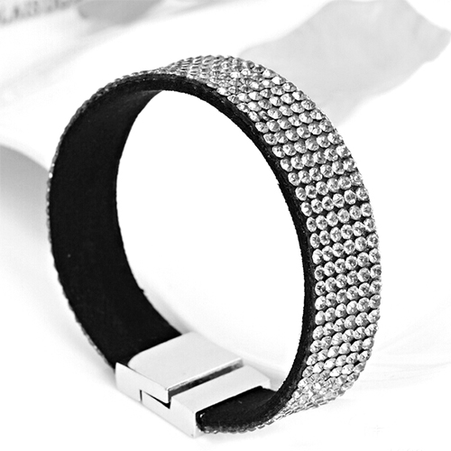 Bracelet Strass 6 rangs - Crystal