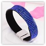 Bracelet Strass 6 rangs - Sapphire