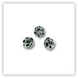 Boules filigranées 4 mm argentées vieillies x20