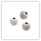 Boule diamantée grain fin - Argent Massif - 04mm x25
