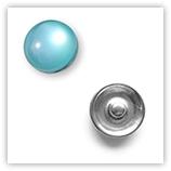 Bouton pression Oeil de Chat interchangeable 20mm - Turquoise