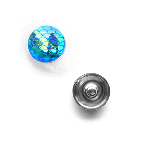 Bouton pression vagues interchangeable 20mm - Aquamarine