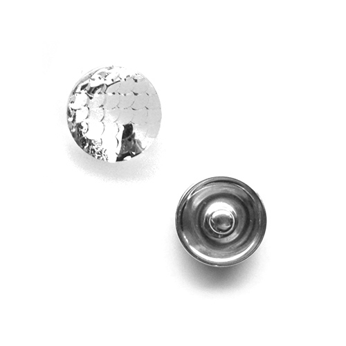 Bouton pression vagues interchangeable 20mm - Silver