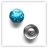 Bouton pression inclusions interchangeable 20mm - Aquamarine