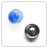 Bouton pression inclusions interchangeable 20mm - Bleu et Blanc