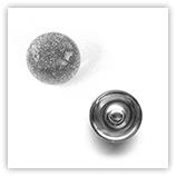 Bouton pression métallisé interchangeable 20mm - Gris
