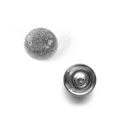 Bouton pression vagues interchangeable 20mm - Gris