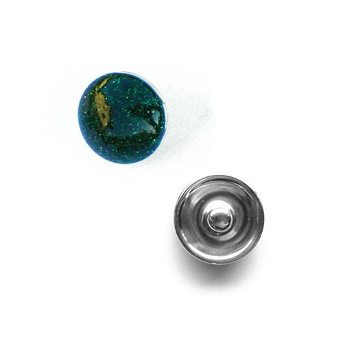 Bouton pression métallisé interchangeable 20mm - Emeraude