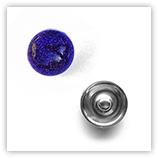 Bouton pression métallisé interchangeable 20mm - Violet