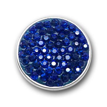 Bouton pression multi-strass interchangeable 20mm - Sapphire