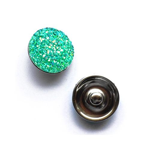 Bouton pression pailleté interchangeable 20mm - Vert