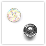 Bouton pression spirales interchangeable 20mm - CrystalAB
