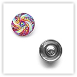 Bouton pression spirales interchangeable 20mm - Rouge