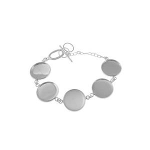 Bracelet à chainettes toogle pour cabochons 20 mm