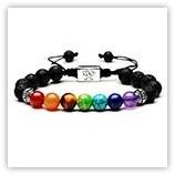 Bracelet Perles gemmes multicolore 8 mm