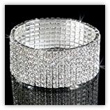 Bracelet Strass métallique haut de gamme