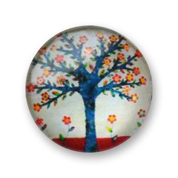 Cabochon 20 mm arbre en fleur - 381