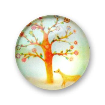 Cabochon 20 mm arbre en fleur - 398