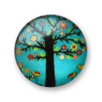 Cabochon 20 mm arbre en fleur - 399