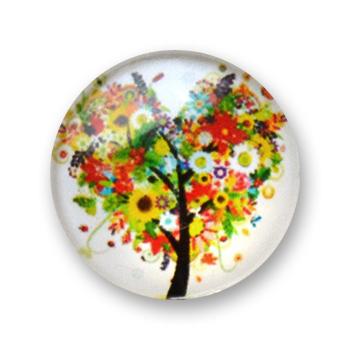 Cabochon 20 mm arbre en fleur - 401