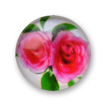 Cabochon 20 mm fleurs - 334
