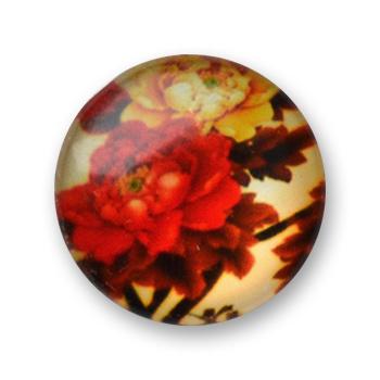 Cabochon 20 mm fleurs - 335