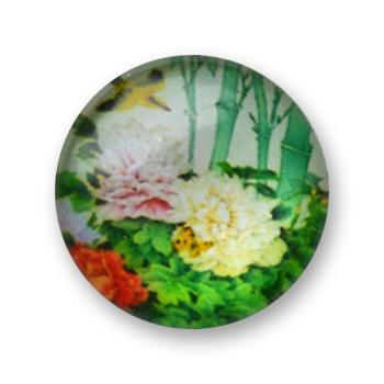 Cabochon 20 mm fleurs - 348