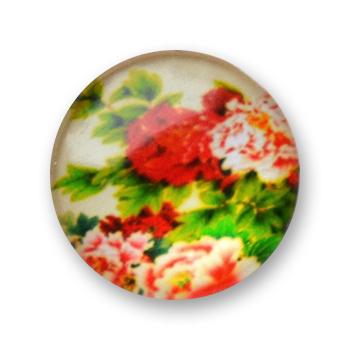 Cabochon 20 mm fleurs - 352
