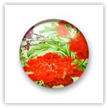 Cabochon 20 mm fleurs - 314