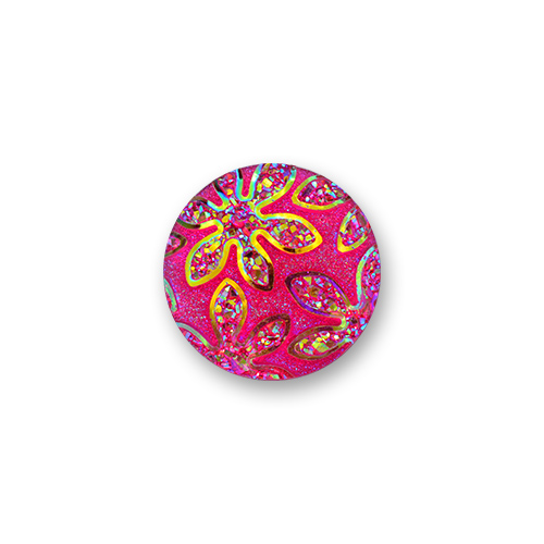Cabochon 14 mm Fuschia