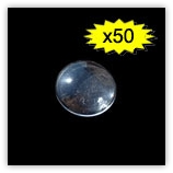 Cabochon loupe 18 mm Crystal x50