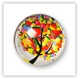 Cabochon arbre en fleur 25 mm - 44